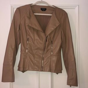 Leather soft jacket